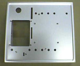 Control Panel brushed aluminum with welded corners