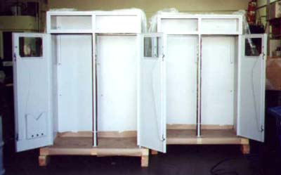 Scrubber Cabinet (self closing doors and windows).
